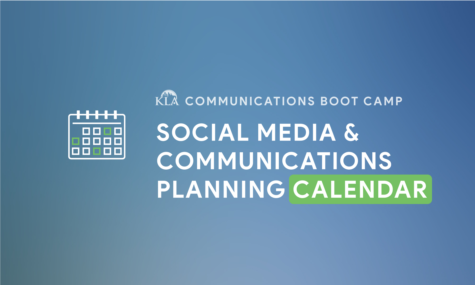 Social Media and Communications Boot Camp