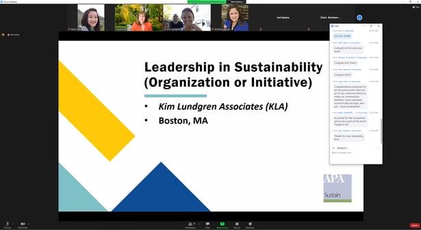 APA Sustainability Award KLA slide