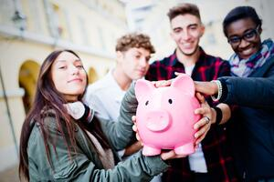 Participatory Budgeting - Group with Piggy Bank